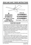 Emerson CF930WW01 User's Manual