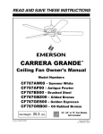 Emerson CF787AP00 User's Manual