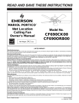 Emerson CF690CK00 Owner's Manual