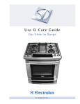Electrolux Gas Slide-In Range User's Manual