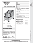 Electrolux Dito 603309 User's Manual