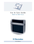 Electrolux Built-In Wall Oven User's Manual