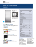 Electrolux EI32AF65JS Product Specifications Sheet