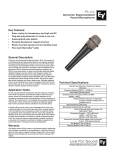 Electro-Voice PL44 User's Manual