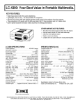 Eiki LC-4300 User's Manual