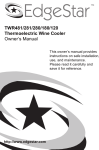 EdgeStar TWR281 User's Manual