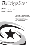 EdgeStar AP310SS User's Manual