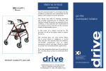 Drive Medical Design 10215RD-1 User's Manual