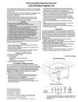 Draper LCD Lift Video Projector User's Manual