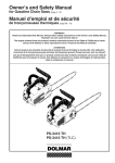 Dolmar PS-3410 User's Manual