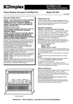 Dimplex 316 CHE User's Manual