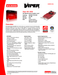 Diamond Multimedia Radeon HD 3850 User's Manual