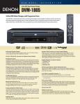 Denon DVM-1805 User's Manual
