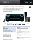 Denon AVR-2809CI User's Manual