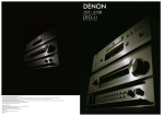 Denon AVC-A1SR User's Manual