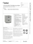 Delfield UC4532N User's Manual