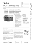 Delfield UC4472N-M User's Manual