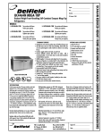 Delfield UC4464N-24M User's Manual