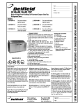 Delfield UC4464N-12 User's Manual