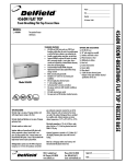 Delfield 4560N User's Manual