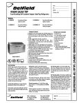 Delfield 4460N-12 User's Manual