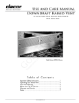 Dacor ERV36-ER User's Manual