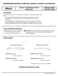 Dacor Dishwasher ADWM24H User's Manual