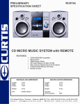 Curtis RCD744 User's Manual