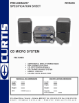 Curtis RCD633 User's Manual