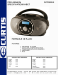 Curtis RCD302UK User's Manual