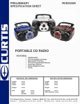 Curtis RCD243UK User's Manual