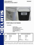 Curtis RCD224 User's Manual