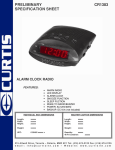 Curtis CR1383 User's Manual