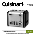 Cuisinart Toaster CPT-340 User's Manual