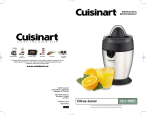 Cuisinart CCJ-100C User's Manual