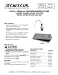 Cres Cor IFW61WF User's Manual