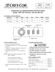 Cres Cor CSH-122-10 Series User's Manual