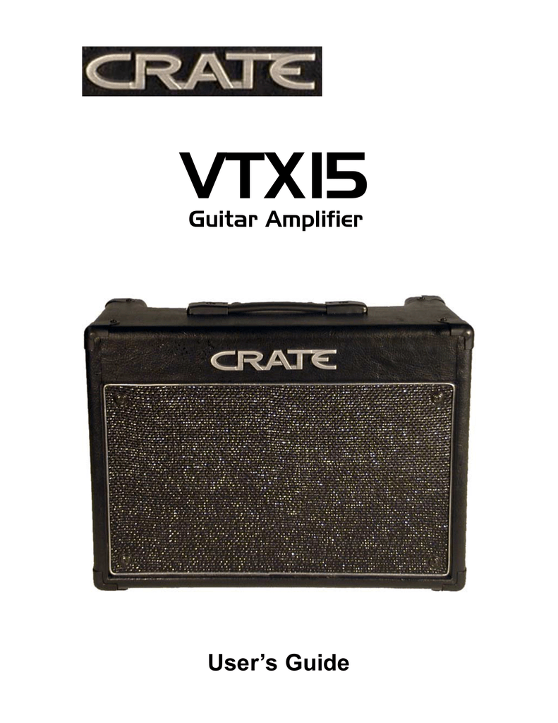 crate amplifiers vtx15 user s manual rh manualzilla com  Crate G600xl