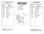 Craftsman Premium Heavy-Duty Hanging Wall Cabinet Service Parts