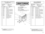 Craftsman Heavy-Duty Stainless Steel Rolling Cabinet Service Parts