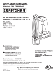 Craftsman C3 Owner's Manual