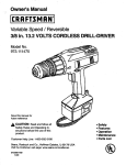 Craftsman 973.11147 User's Manual