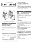 Craftsman 40-Inch Owner's Manual
