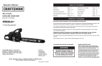 Craftsman 316.35085 Operator's Manual