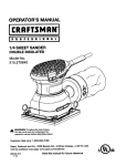 Craftsman 315.27984 User's Manual