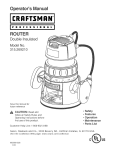 Craftsman 315.26921 User's Manual