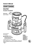 Craftsman 315.17513 User's Manual