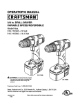 Craftsman 115 User's Manual