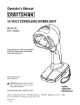 Craftsman 11390 Operator's Manual