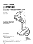 Craftsman 11047 Operator's Manual